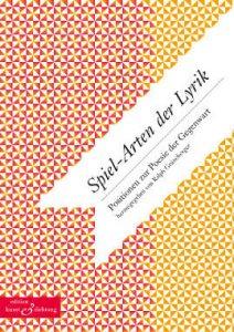 Tage der Poesie in Sachsen 2015 - Umschlag Spielarten der Lyrik