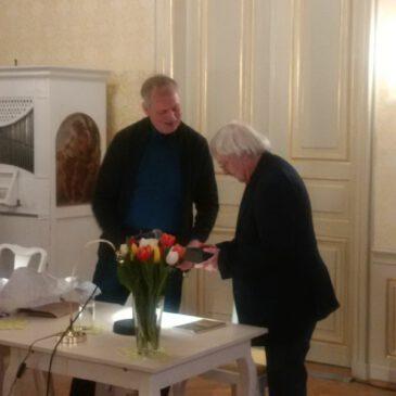 Andreas Reimann mit demPoesiealbum neu-Preis 2018 geehrt