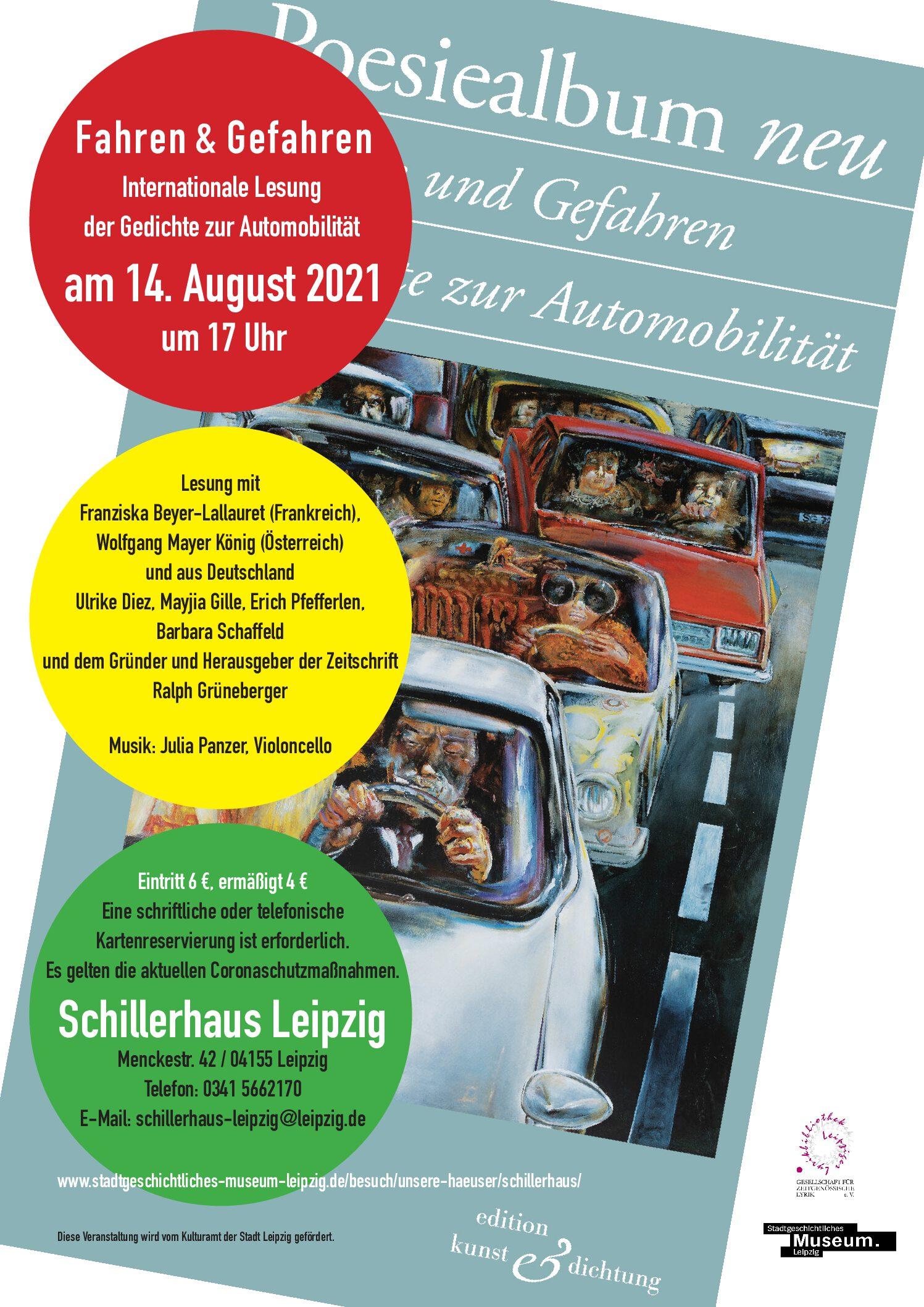 """Premiere """"Fahren & Gefahren. Gedichte zur Automobilität"""""""